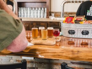 Craft Brewery Marketing Tips; different types of drinks placed on the table