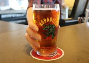 Types of Beermats: A beer glass placed on a thin mat.